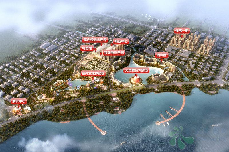 合肥万达文化旅游城规划有文化、旅游、商业、酒店、滨湖酒吧